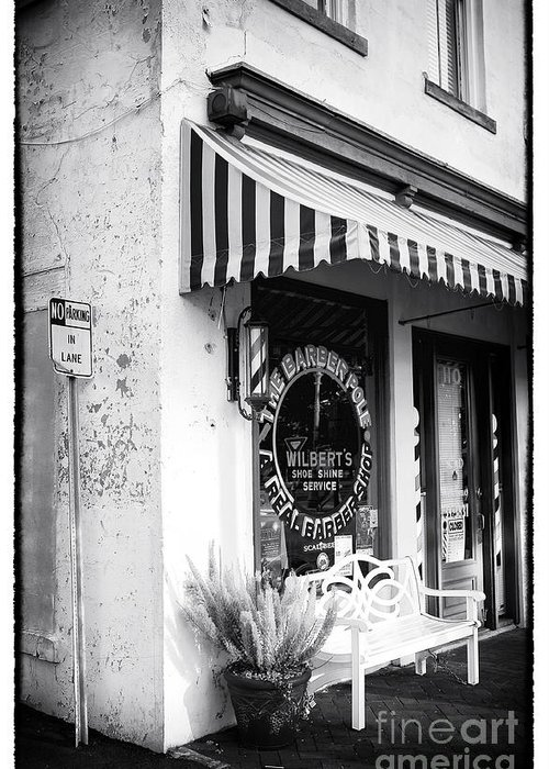 A Real Barber Shop Greeting Card featuring the photograph A Real Barber Shop by John Rizzuto