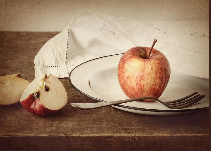 Apple Greeting Card featuring the photograph A Taste Of Autumn by Amy Weiss