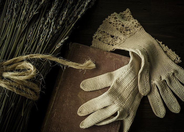 Glove Greeting Card featuring the photograph A Woman's Touch by Amy Weiss