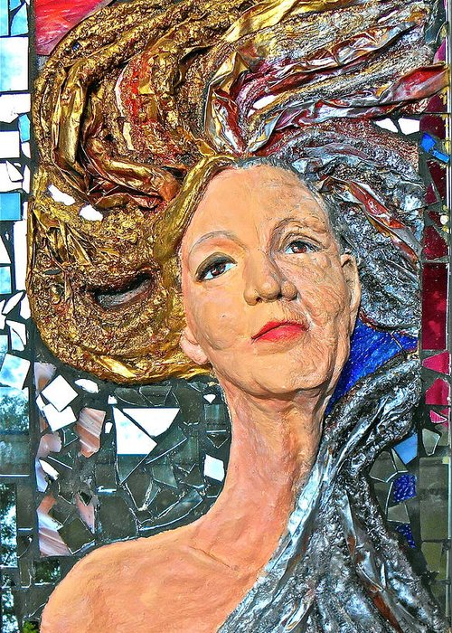 Women Greeting Card featuring the sculpture A Work In Progress by Phyllis Dunn