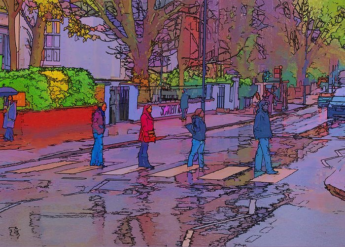 Abbey Road Album Greeting Card featuring the photograph Abbey Road Crossing by Chris Thaxter