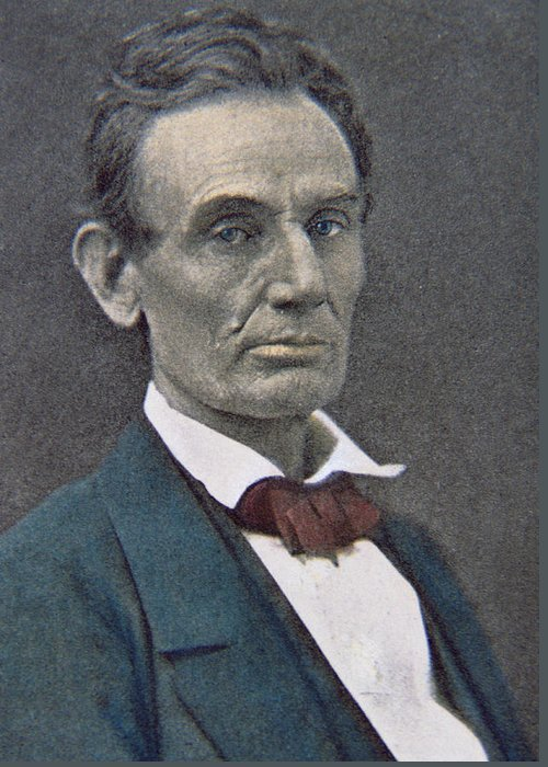 Statesman Greeting Card featuring the photograph Abraham Lincoln by American Photographer