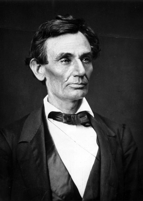 Abraham Greeting Card featuring the photograph Abraham Lincoln Portrait by Anonymous