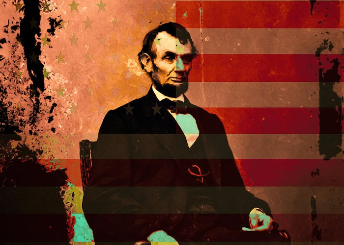 Celebrity Greeting Card featuring the photograph Abraham Lincoln by Wingsdomain Art and Photography