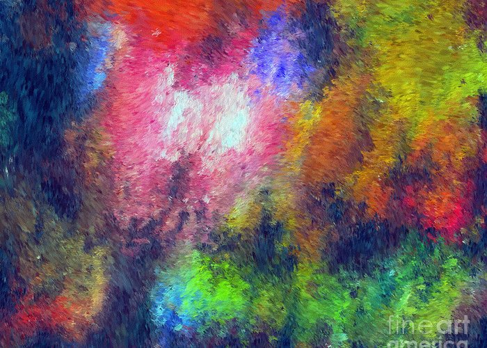 Abstract Greeting Card featuring the digital art Abstract 296 by John Krakora