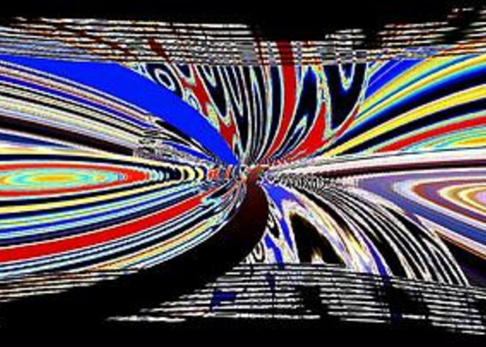 Abstract Fusion Greeting Card featuring the digital art Abstract Fusion 197 by Will Borden