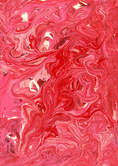 Abstract Greeting Card featuring the photograph Abstract - Nail Polish - My Ice Cream Melted by Mike Savad