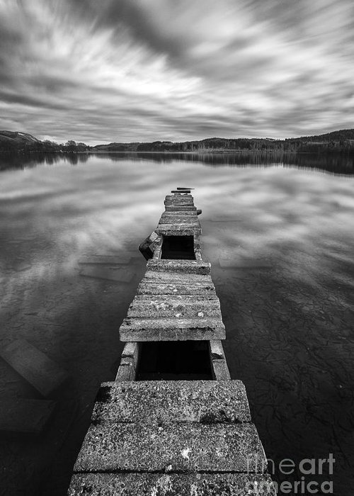 Boat Jetty Greeting Card featuring the photograph Across by John Farnan