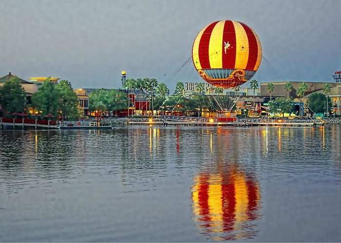 Disney Greeting Card featuring the photograph Across The Water by Jenny Hudson