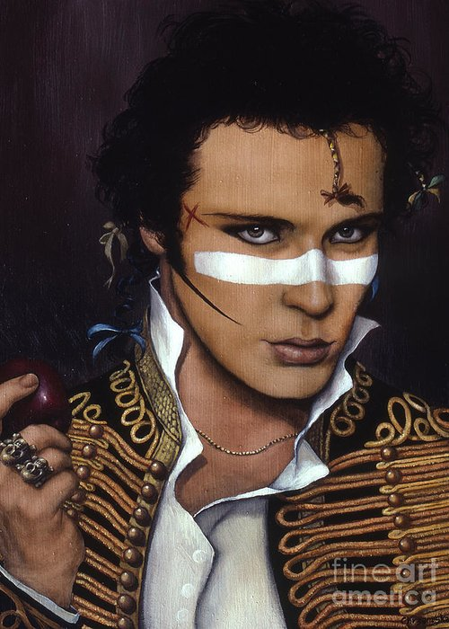 Adam Greeting Card featuring the painting Adam Ant by Jane Whiting Chrzanoska