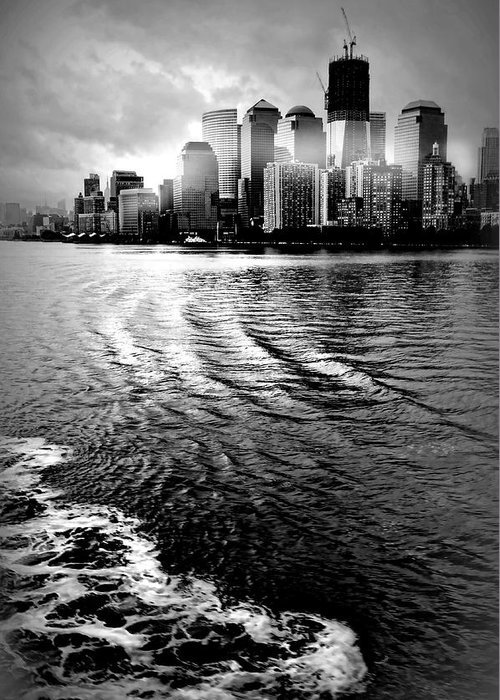 New York City Greeting Card featuring the photograph Aft by Diana Angstadt
