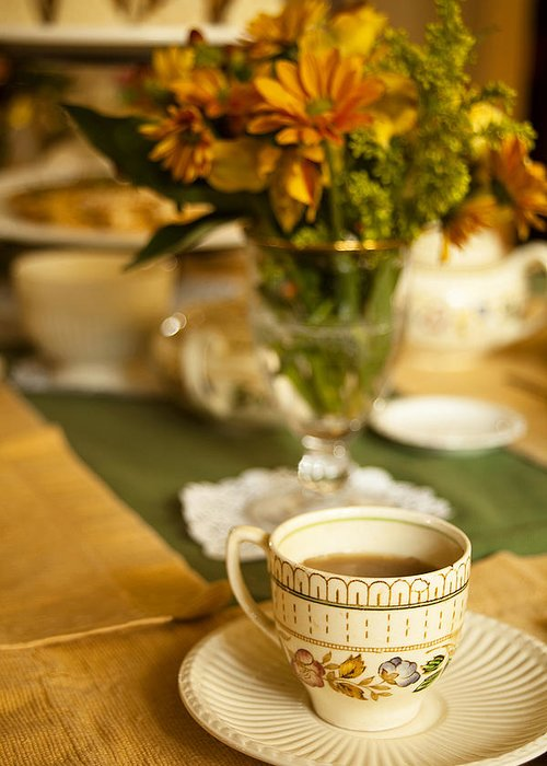 Tea Greeting Card featuring the photograph Afternoon Tea Time by Andrew Soundarajan