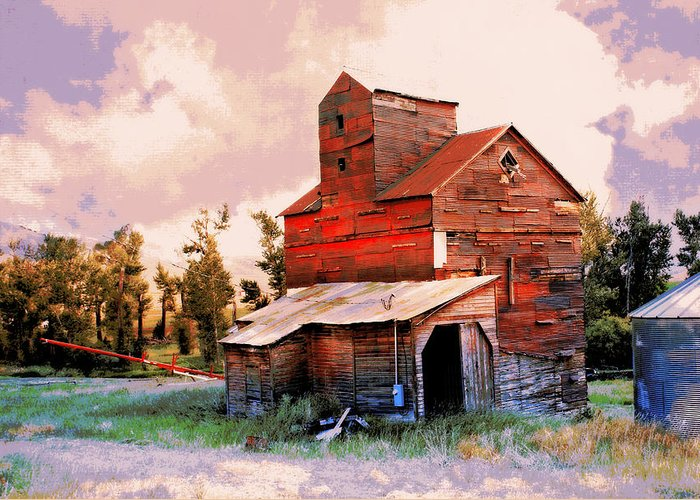 Grain Elevator Greeting Card featuring the photograph Against The Grain by Marty Koch