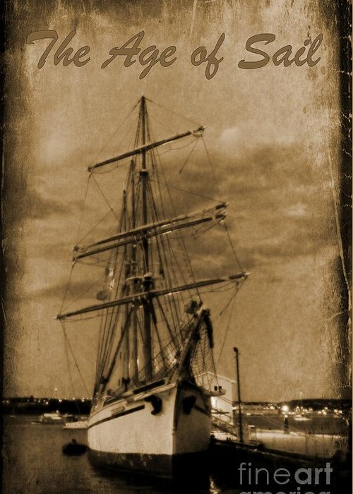 Halifax Harbour Images Greeting Card featuring the photograph Age Of Sail Poster by John Malone Halifax photographer