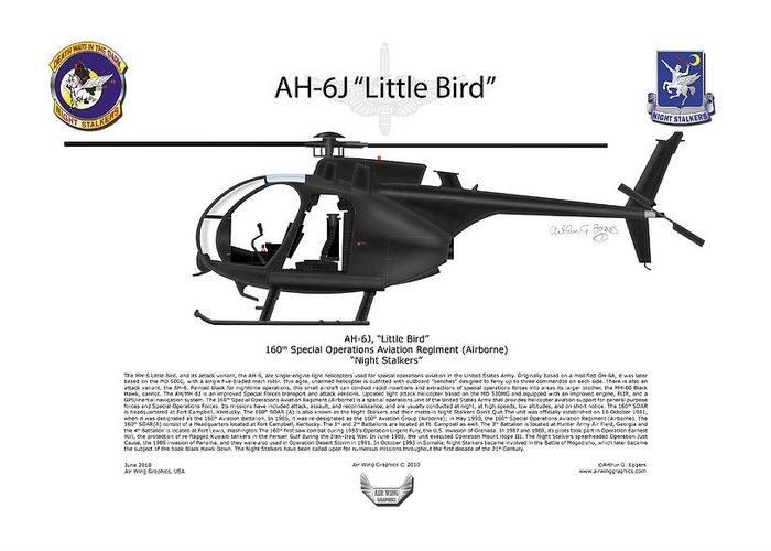 Ah-6j Little Bird Greeting Card by Arthur Eggers