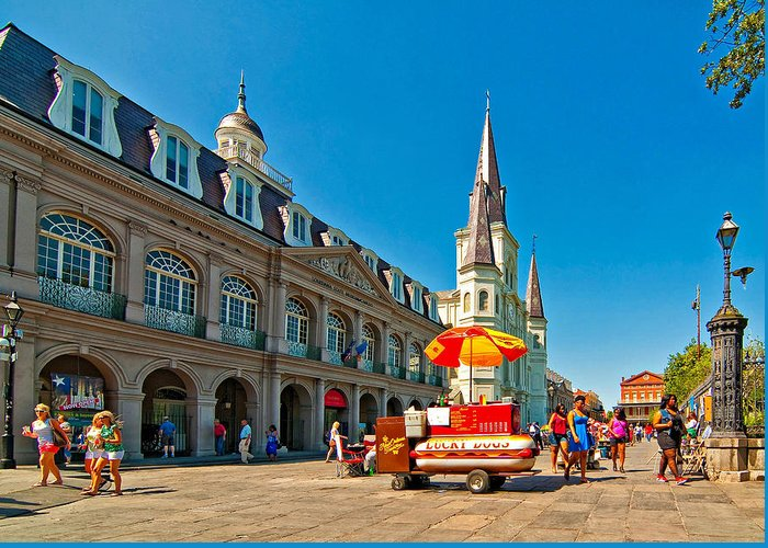 French Quarter Greeting Card featuring the photograph Ahh...new Orleans by Steve Harrington
