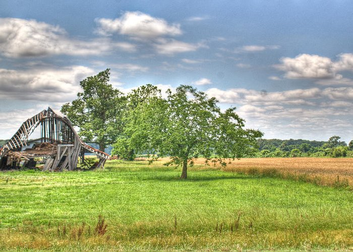 Barn Greeting Card featuring the photograph Air Conditioned Barn by Douglas Barnett