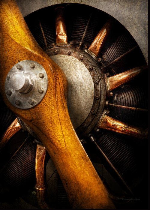 Propeller Greeting Card featuring the photograph Air - Pilot - You Got Props by Mike Savad