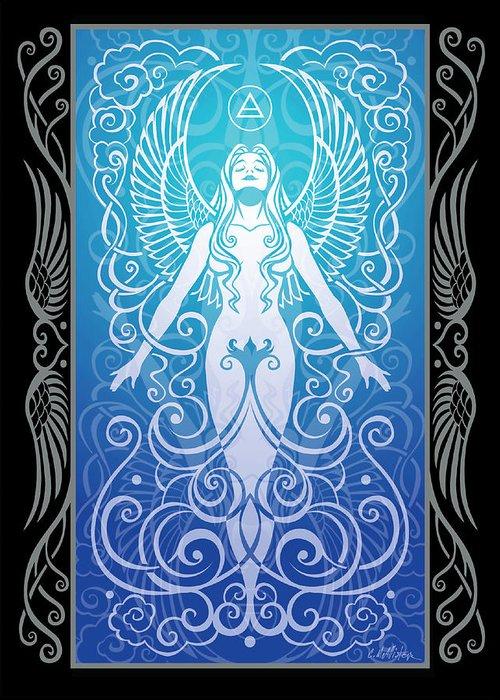 Goddess Greeting Card featuring the digital art Air Spirit V.2 by Cristina McAllister