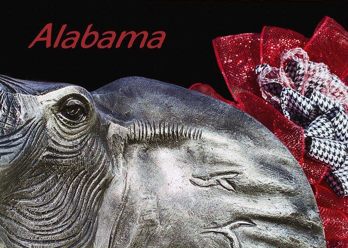 Alabama Football Greeting Card featuring the photograph Alabama by Kathy Clark