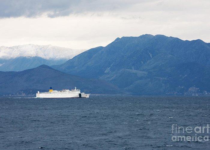Adriatic Sea Greeting Card featuring the photograph Albanian Coast by Gabriela Insuratelu