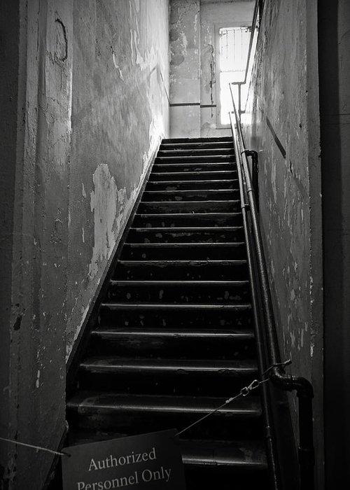 Alcatraz Hospital Greeting Card featuring the photograph Alcatraz Hospital Stairs by RicardMN Photography