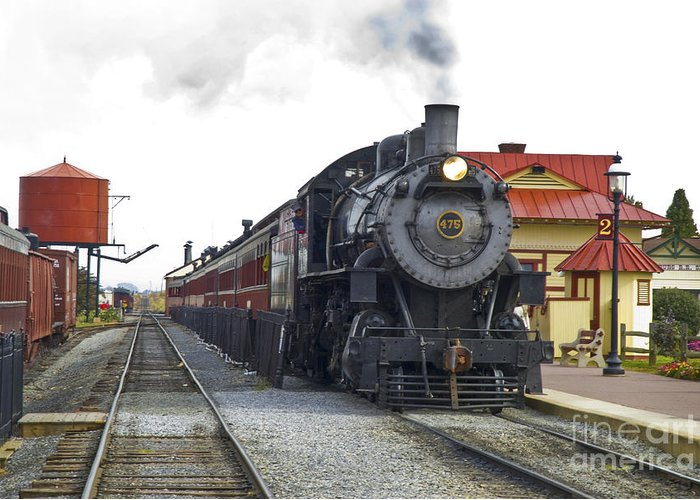 Strasburg Railroad Greeting Card featuring the photograph All Aboard by Paul W Faust - Impressions of Light