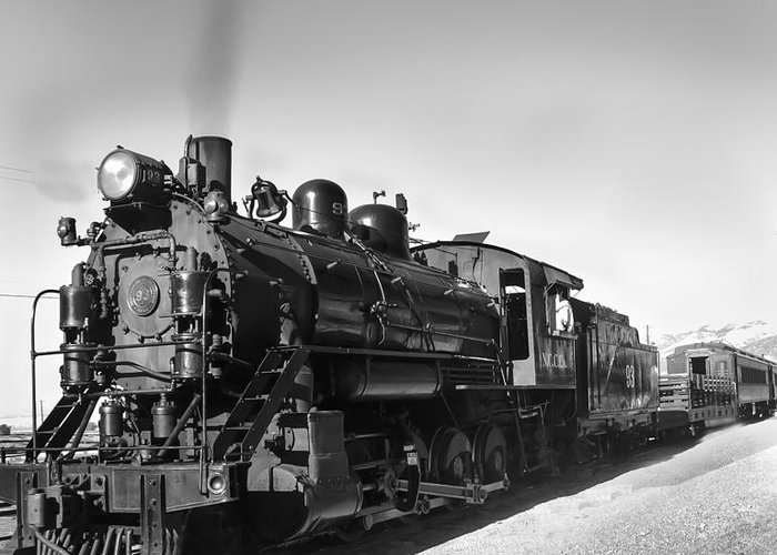 Train Greeting Card featuring the photograph All Aboard by Robert Bales