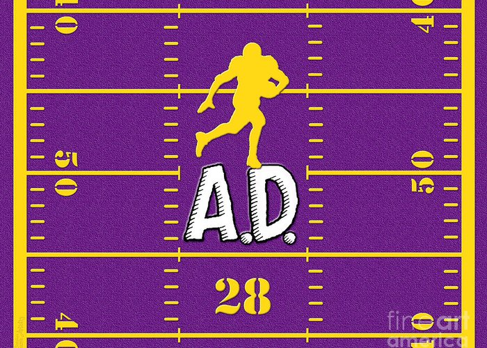 Adrian Peterson Greeting Card featuring the digital art All Day by Cristophers Dream Artistry