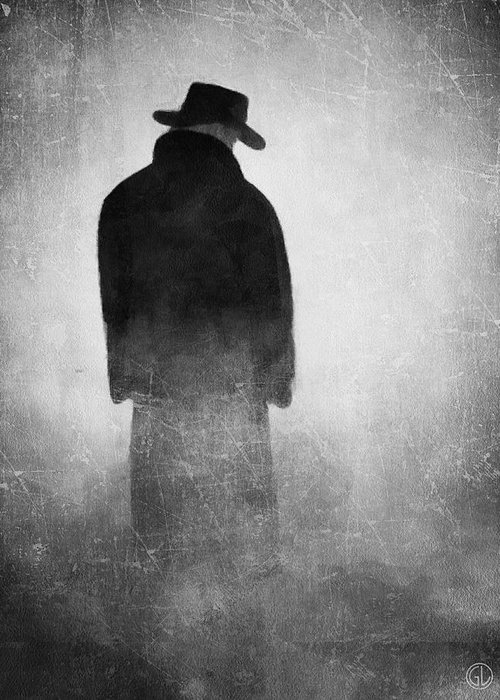 Man Greeting Card featuring the digital art Alone In The Fog 2 by Gun Legler
