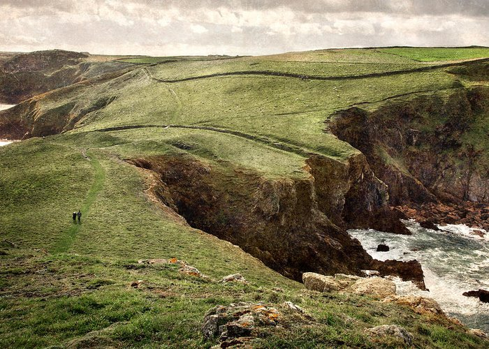 Coast Path Greeting Card featuring the photograph Along The Coast Path by William Beuther