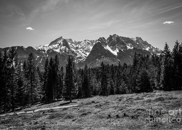 Alpspitze Greeting Card featuring the photograph Alpspitze Till Zugspitze II by Hannes Cmarits