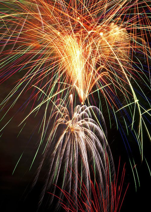 4th Greeting Card featuring the photograph Amazing Fireworks by Garry Gay