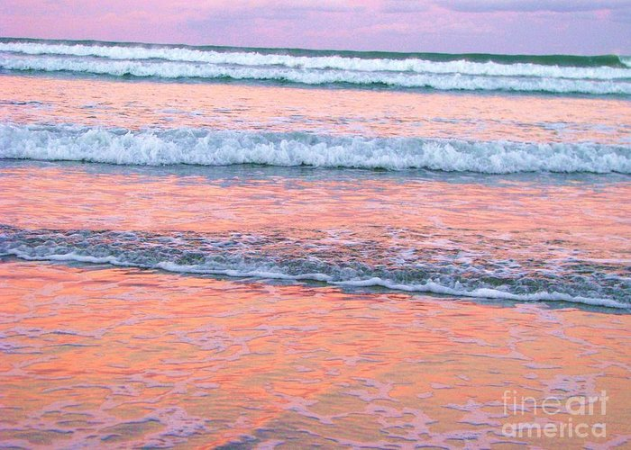 Sunset Greeting Card featuring the photograph Amazing Pink Sunset by Michele Penner