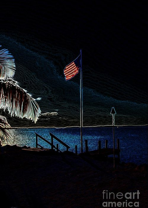 Flag Greeting Card featuring the photograph America All The Way 8 by Rene Triay Photography