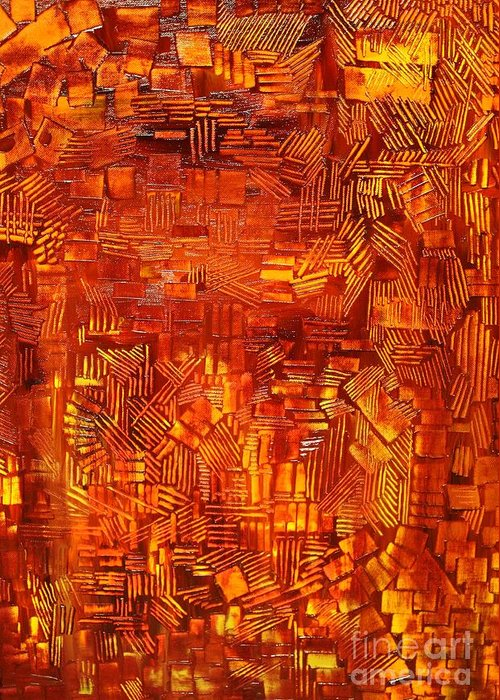Autumn Greeting Card featuring the painting An Autumn Abstraction by Michael Kulick