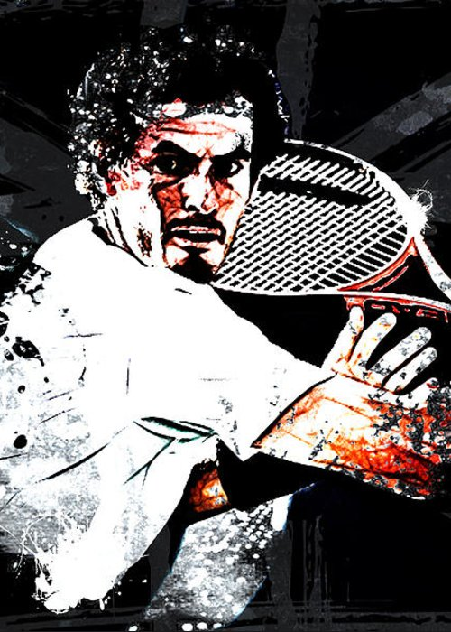 Andy Murray Greeting Card featuring the digital art Andy Murray by The DigArtisT