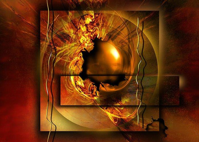 Gold Greeting Card featuring the digital art Angelos by Franziskus Pfleghart