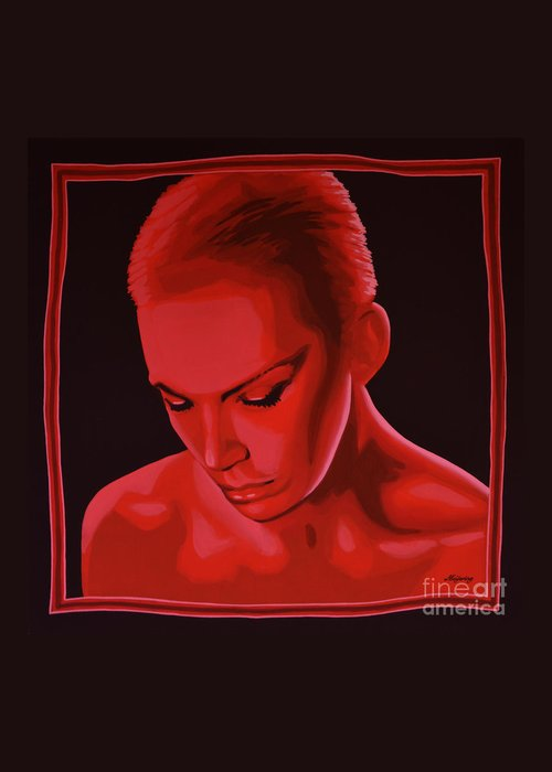 Annie Lennox Greeting Card featuring the painting Annie Lennox by Paul Meijering