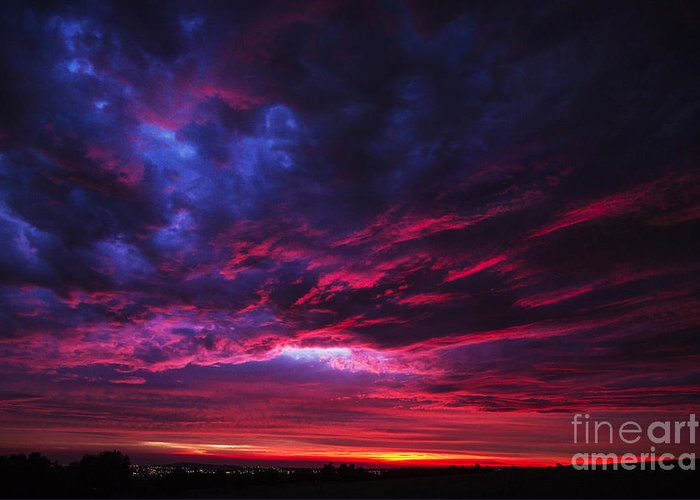 Sunset Greeting Card featuring the photograph Anomaly by Andrew Paranavitana