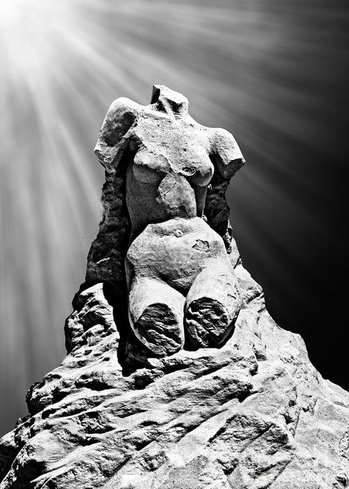 Milo Greeting Card featuring the photograph Aphrodite Of Milos Styled Sand Castle by Tom Gari Gallery-Three-Photography