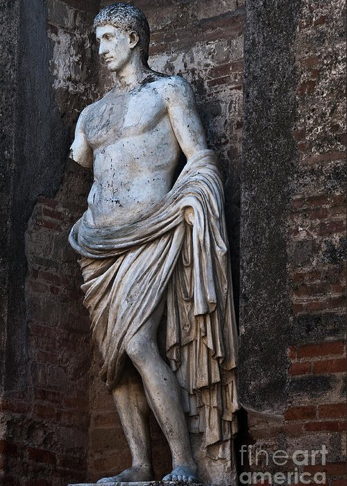 Pompeii Greeting Card featuring the photograph Apollo by Marion Galt