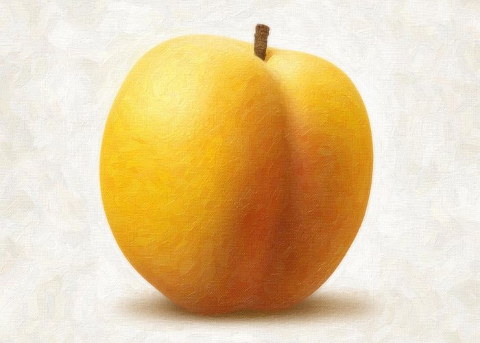 Apricot Greeting Card featuring the painting Apricot by Danny Smythe