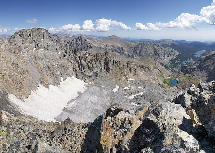 Arapaho Greeting Card featuring the photograph Arapaho Glacier by Aaron Spong