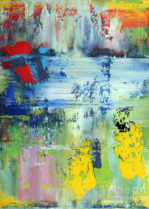 Abstraction Greeting Card featuring the painting Artifact 25 by Charlie Spear