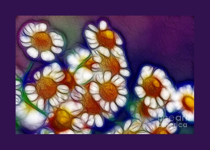 Photography Greeting Card featuring the photograph Artistic Feverfew by Kaye Menner