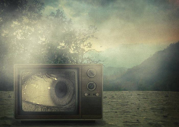 Surreal Greeting Card featuring the photograph As Seen On Tv by Taylan Soyturk