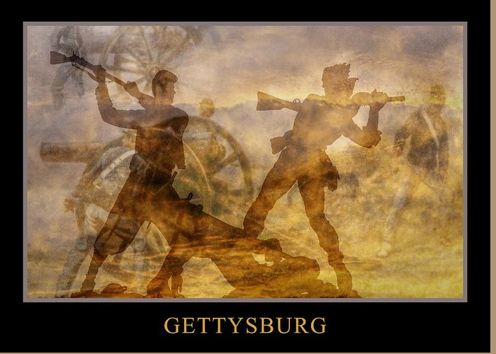 Confederate Greeting Card featuring the digital art At A Place Called Gettysburg Poster by Randy Steele