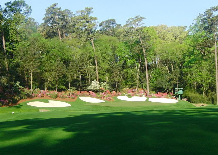 Amen Corner Greeting Card featuring the photograph Augusta National - Amen Corner by Bo Watson