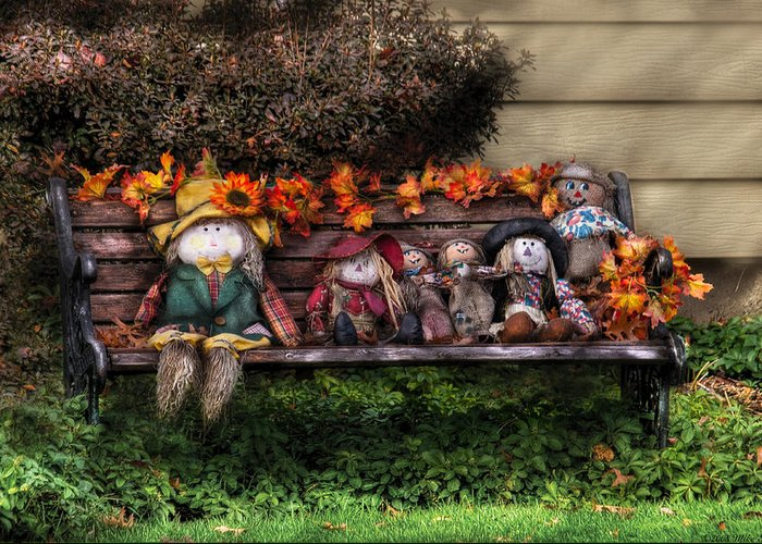 Savad Greeting Card featuring the photograph Autumn - Family Reunion by Mike Savad
